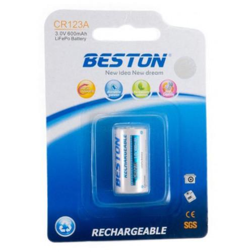 16340 (CR123a) Beston 600mah 3,0V LiFePO4
