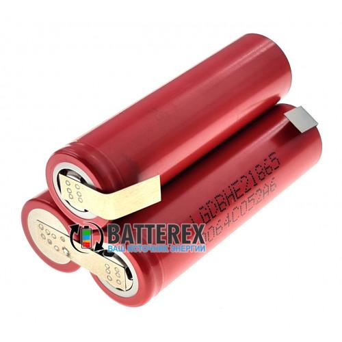 Сборка 18650 3S 12V 2500mah высокотоковая 20A из 3х аккумуляторов 18650 LG HE2 треугольная
