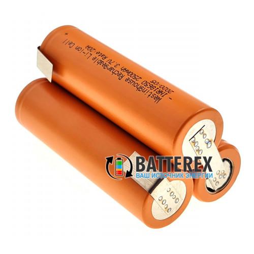 Сборка 3S 11.1-12.6V 20A 2500mah из 3х аккумуляторов 18650 Westinghouse 2500mah 20A для электроинструмента (треугольная)