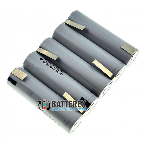 Сборка 5S 18.5-21V 10A 3200mah из 5 аккумуляторов 18650 Panasonic NCR18650BD 3200mah