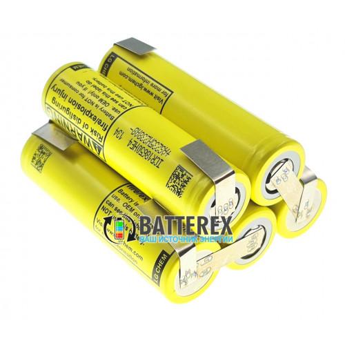Сборка 5S 18.5-21V 20A 2500mah из 5 аккумуляторов 18650 LG HE4 для шуруповёрта