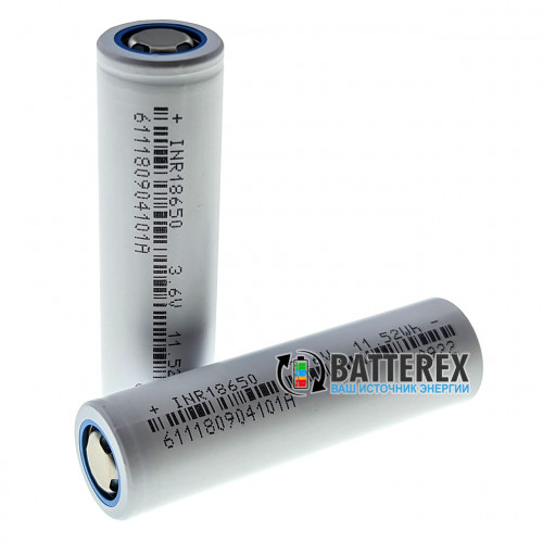 18650 DLG INR18650-320 3200mAh 3.6V постоянный ток до 6.4A