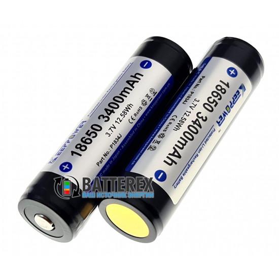Аккумулятор Li-ion 18650 KeepPower 3400mah 3,7V Protected с защитой