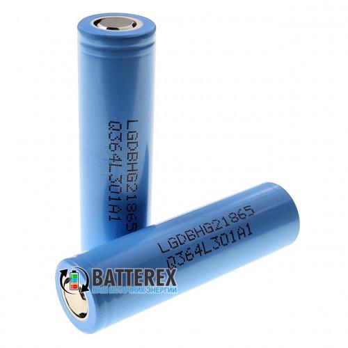 18650 LG HG2 в голубой термоусадке (HG2L) 3000mAh 20A высокотоковый - оригинал, Корея