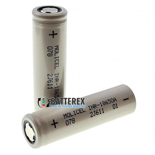 18650 Molicel INR-18650A 2500mah 3.6V 20A высокотоковый (аналог Samsung 25R и LG HE4)