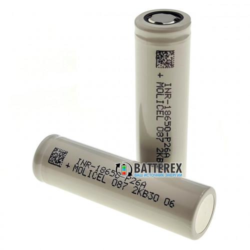 18650 Molicel INR P26A 2600mah 3.6V 35A высокотоковый (лучше чем Sony Murata VTC5A)