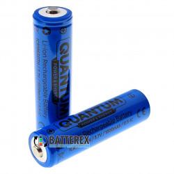 18650 Quantum ICR18650 1800mah 3.7V 2A Button Top с выпуклым контактом плюс (для фонарей)