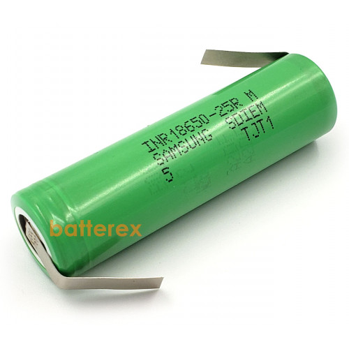 18650 Samsung INR18650 25R 2500mah 3,7V высокотоковый - под пайку