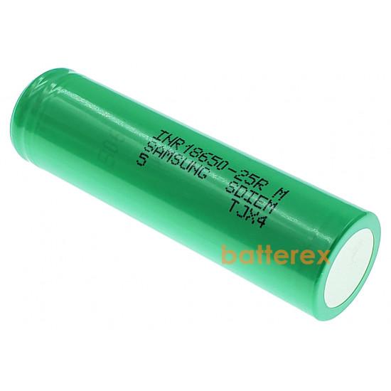 Аккумулятор высокотовый 18650 Samsung INR 25R 2500mah 3,7V постоянная токоотдача 20А