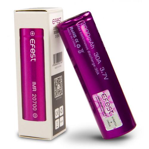 20700 Efest IMR 3000mah 30A 3,7V высокотоковый без защиты