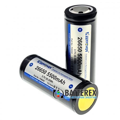 26650 Keeppower 5500mah 3,7V 10A Protected - с защитой