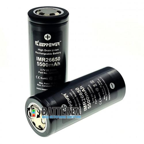 26650 Keeppower IMR 5500mah 3,7V 15A/30A высокотоковый