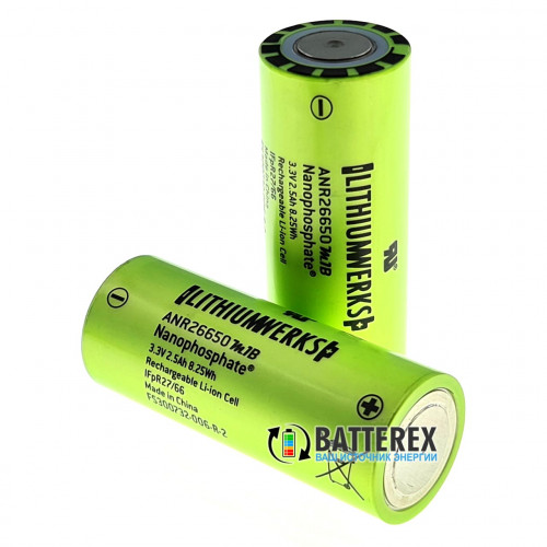 26650 Lithium Werks ANR26650M1-B Nanophosphate LiFePO4 2500mah 3,3V 50A/120A высокотоковый