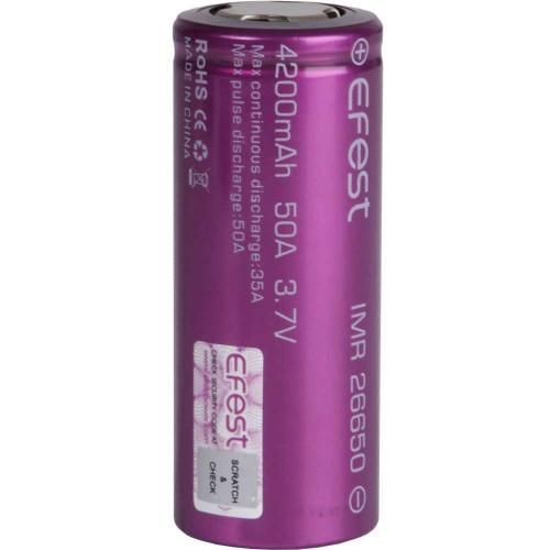 26650 Efest IMR 4200mah 50A 3,7V высокотоковый без защиты