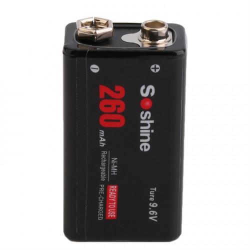 Аккумулятор Крона Soshine 9.6V 260mah - повышенное напряжение для долгой работы