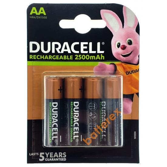Аккумуляторы AA Duracell 2500 mah - 4 шт. в блистере