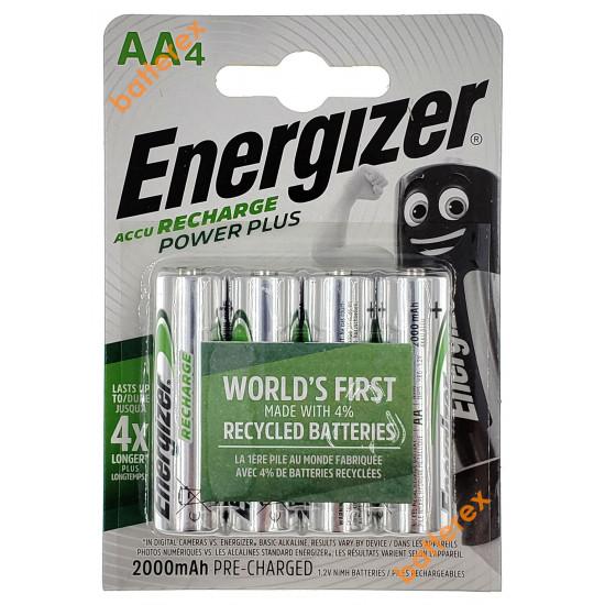 Аккумуляторы AA Energizer Power Plus 2000 mah (4 шт. в блистере)