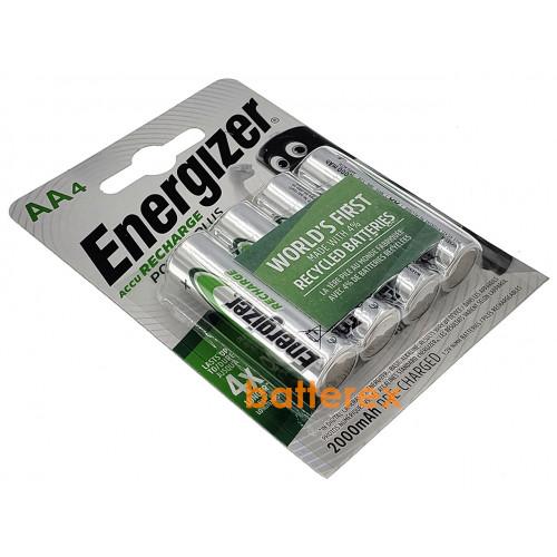 AA Energizer Power Plus 2000 mah Pre-Charged - 4 аккумулятора в блистере. Оригинал, Япония.