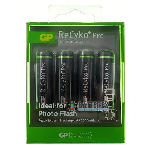 AA GP Recyko Pro 2600mah Photo Flash (высокая токоотдача, низкий саморазряд) - упаковка 4 шт. в блистере