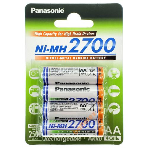 AA Panasonic 2700 mah BK-3HGAE/4BE - 4 шт. в картонном блистере - свежие 2020 год