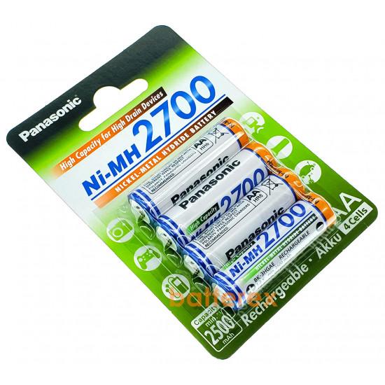 Оригинальная упаковка 4 шт AA аккумуляторы Panasonic 2700 mah BK-3HGAE/4BE