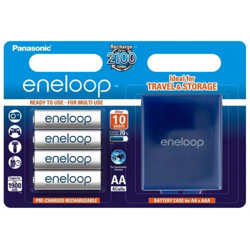 AA Panasonic Eneloop 2000 mah BK-3MCCE/C4BE - упаковка в блистере 4 аккумулятора + фирменный бокс Eneloop