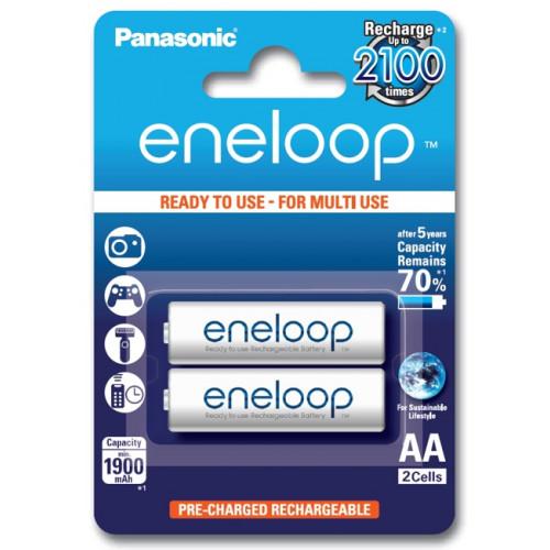 AA Panasonic Eneloop 2000 mah BK-3MCCE/2BE - 2 аккумулятора в блистере