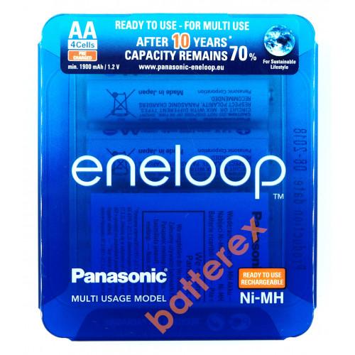 AA Panasonic Eneloop 2000mah BK-3MCCE/4LE Sliding Pack - 4 шт. в слайд-блистере - 2020 год
