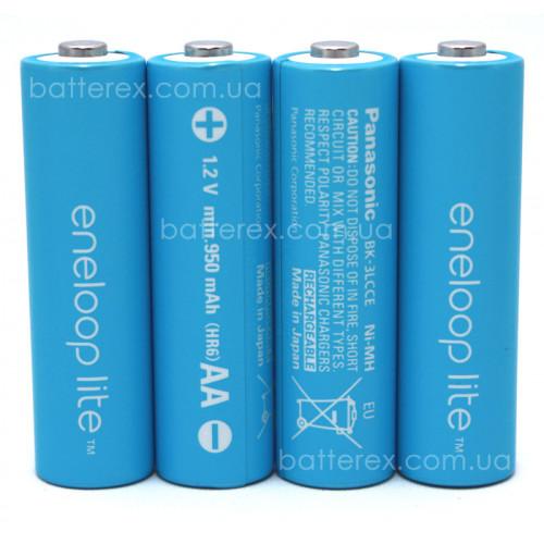 AA Panasonic Eneloop Lite 1000 mah BK-3LCCE - 4 шт. в пластиковом боксе
