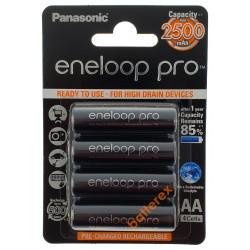 AA Panasonic Eneloop Pro 2600mah (min. 2500mah) BK-3HCDE/4BE в картонном блистере (цена за упаковку 4 шт) - 2020 год