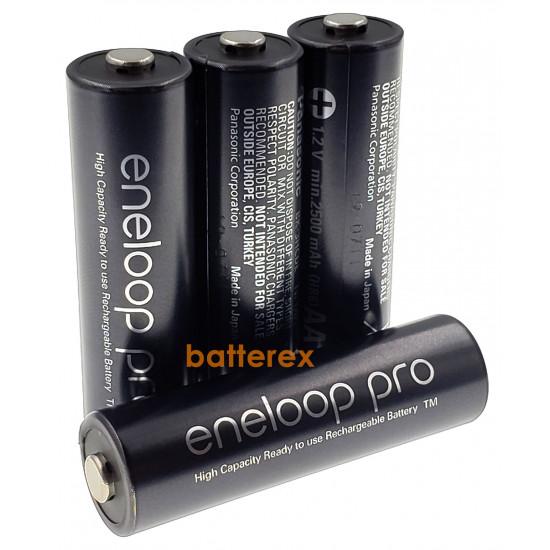 Аккумулятор AA Panasonic Eneloop Pro 2600 mah BK-3HCDE/4BE 4 шт. в картонном блистере