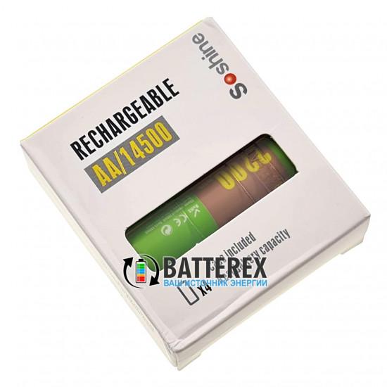 Аккумулятор АА литий-ионный 1,5V Soshine 2200mWh - 4 шт. в пластиком боксе и оригинальной упаковке