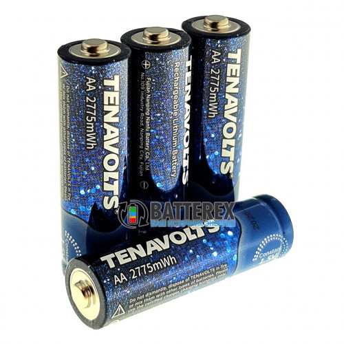 AA Li-ion Tenavolts 2775mWh 1,5V - стабильное напряжение 1,5В - поштучно от 1 шт.