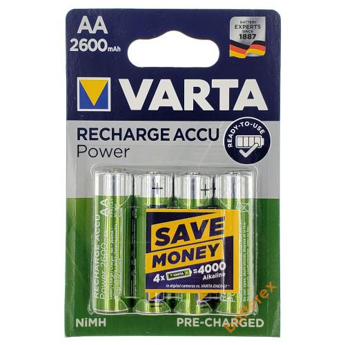 AA Varta R2U 2600 mah Pre-Charged - 4 аккумулятора в блистере.  Оригинал, Германия.