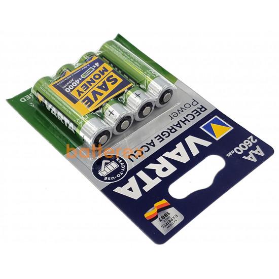 AA Varta R2U 2600 mah Pre-Charged (4 шт. в блистере)