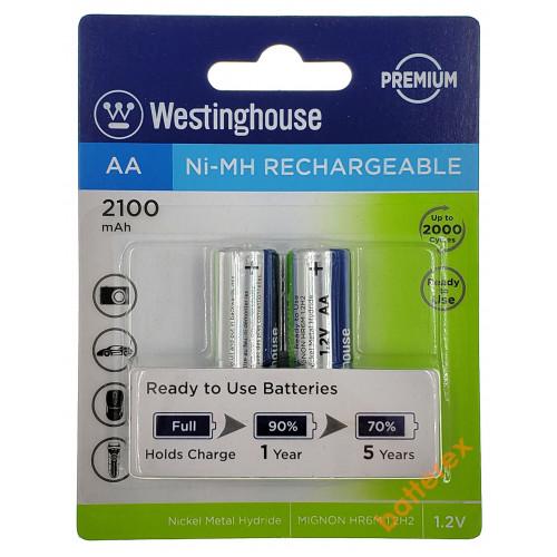 AA Westinghouse Premium 2100 mah - 2 аккумулятора в блистере