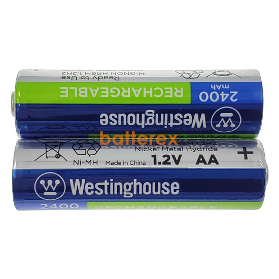 AA Westinghouse MAX 2400 mah (2 шт. в блистере)