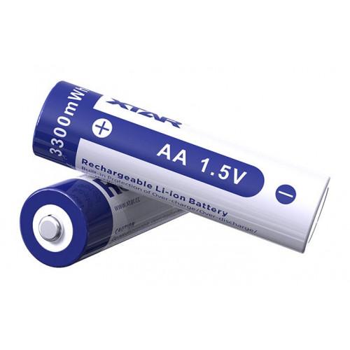 AA Li-ion XTAR 3300mWh 1,5V - литий-ионный АА аккумулятор - стабильное напряжение 1,5В