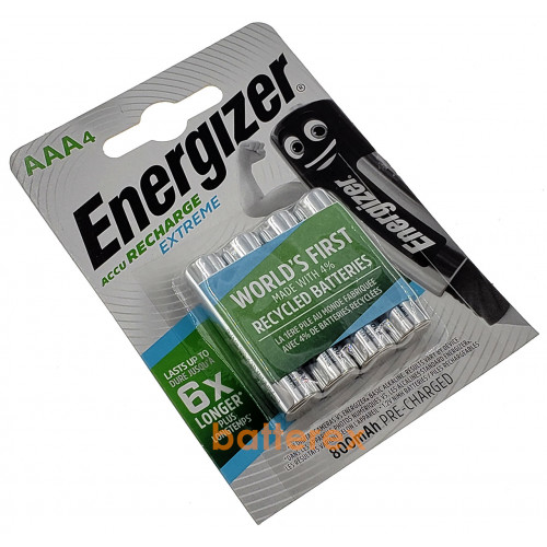AAA Energizer Extreme 800 mah Pre-Charged - 4 аккумулятора в блистере. Оригинал, Япония