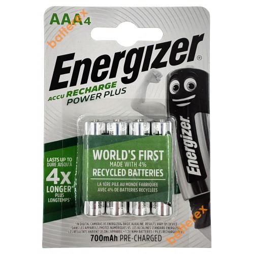 AAA Energizer Power Plus 700 mah Pre-Charged - 4 аккумулятора в блистере. Оригинал, Япония.
