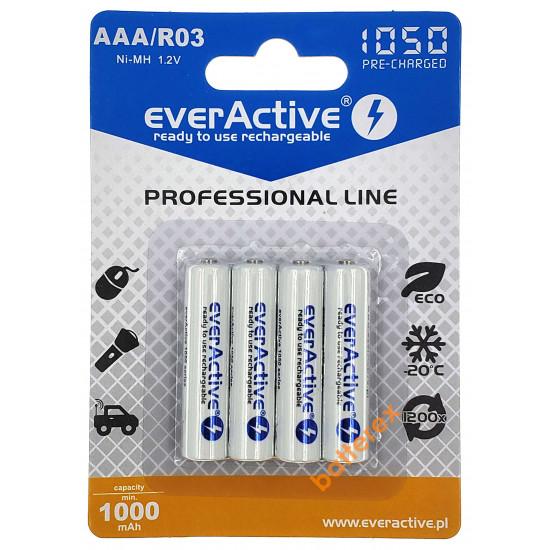 ААА EverActive 1050 mah - 4 аккумулятора в блистере