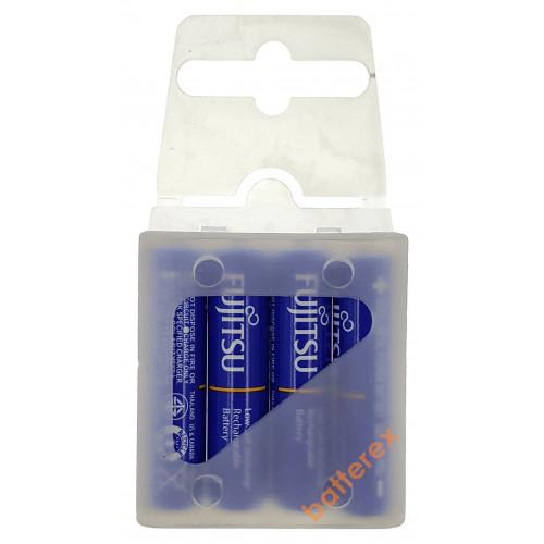 AAA Fujitsu 800mah Blue (min.750mah, 1000 циклов) HR-4UTI - 4 шт. в пластиковом кейсе