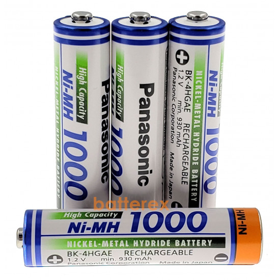 Аккумуляторы AAA Panasonic 1000 mah BK-4HGAE поштучно (цена за 1 шт.)