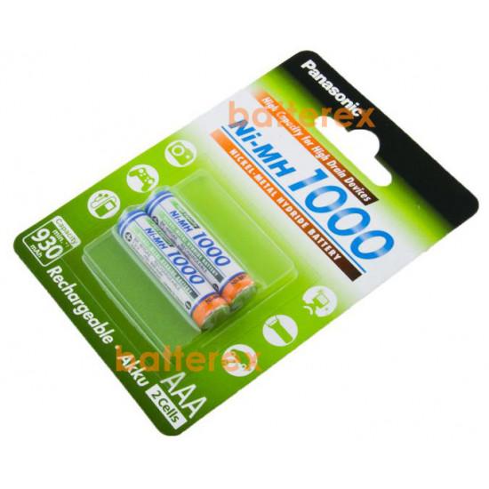 2 аккумулятора Panasonic 1000 mah BK-4HGAE/2BE в картонном блистере