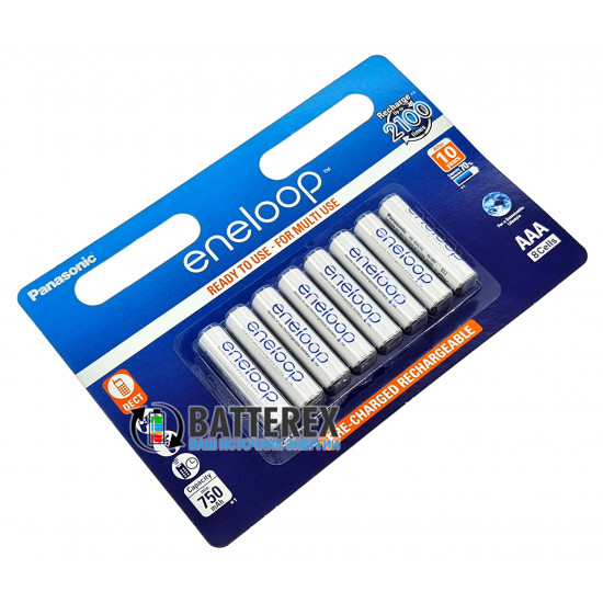 AAA Panasonic Eneloop 800 mah BK-4MCCE/8BE - 8 шт. в картонном блистере