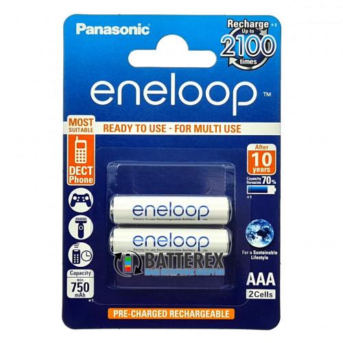 AAA Panasonic Eneloop 800 mah BK-4MCCE/2BE - 2 аккумулятора в блистере - 2020 год