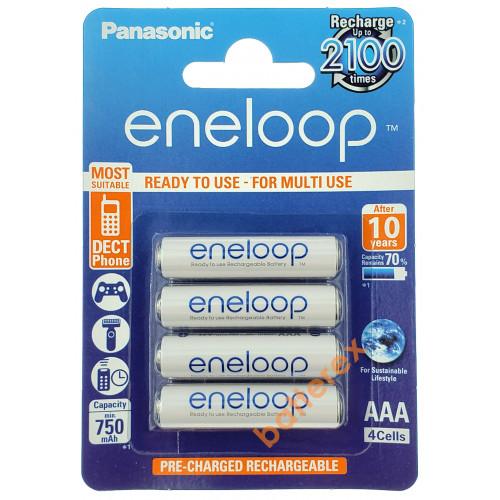 AAA Panasonic Eneloop 800 mah BK-4MCCE/4BE - 4 шт. в картонном блистере - 2020 год