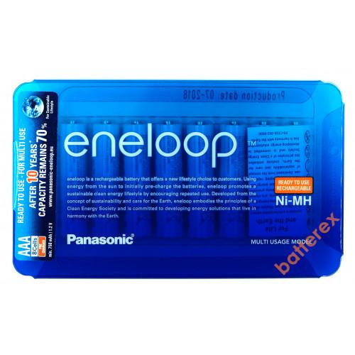 AAA Panasonic Eneloop 800 mah BK-4MCCE/8LE - 8 аккумуляторов в слайд-блистере Sliding Pack - 2020 год