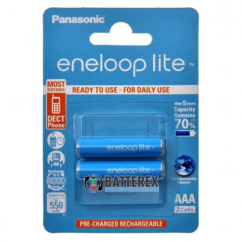 AAA Panasonic Eneloop Lite 600 mah BK-4LCCE/2BE  - 2 аккумулятора в блистере