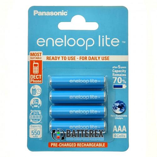 AAA Panasonic Eneloop Lite 600 mah BK-4LCCE/4BE  - 4 аккумулятора в блистере